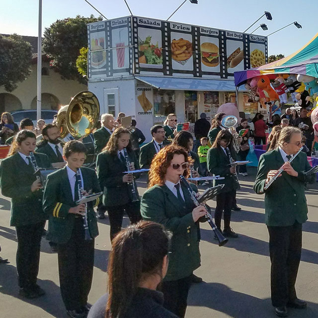 Our band performing at a carnival